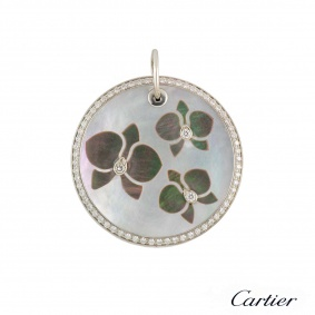 Cartier Caresse D'Orchidees Diamond & Mother of PearlPendant